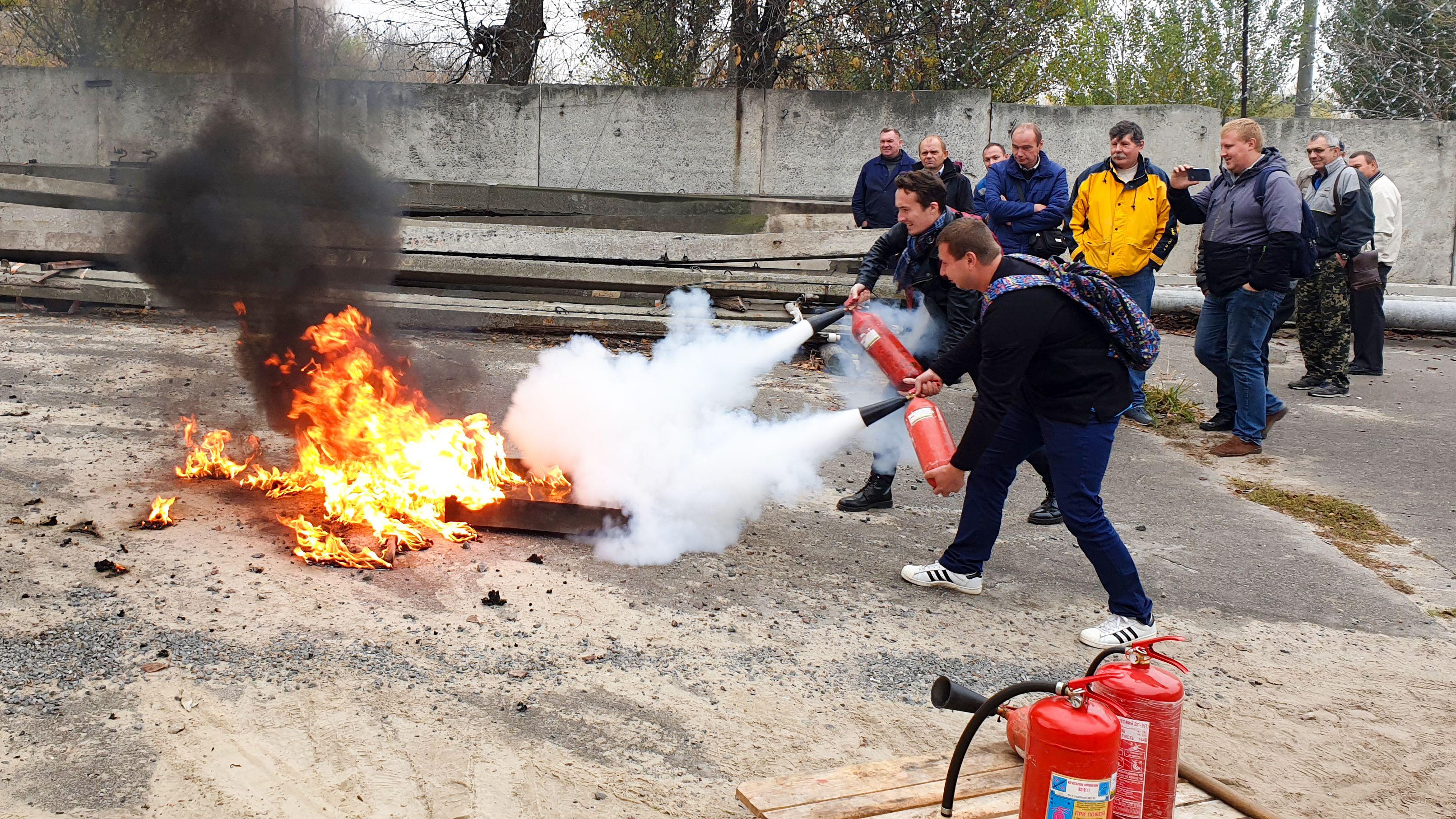 Проведено навчання з пожежної безпеки